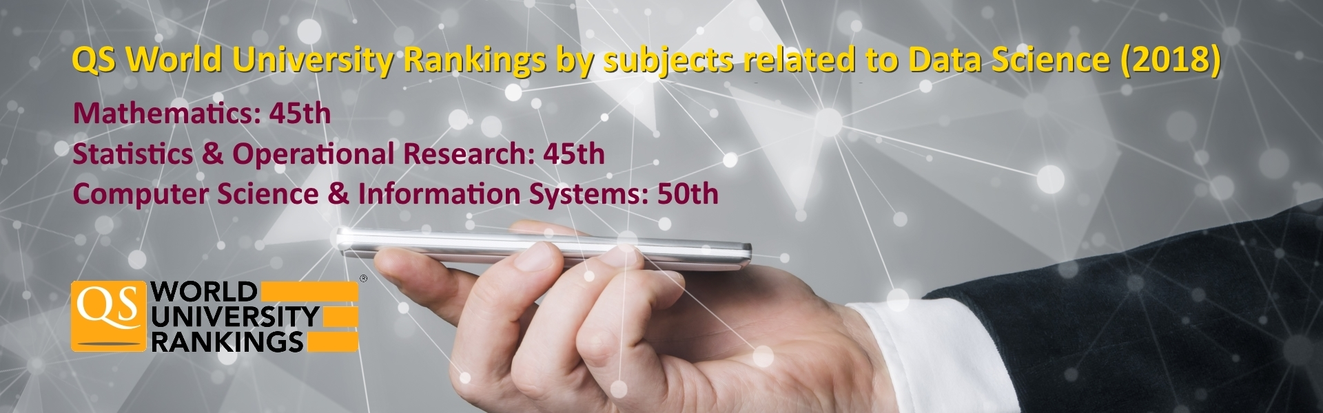 QS World University Rankings by subjects (2018)